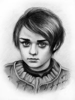 The Girl/The Boy - Arya Stark by Adelmort