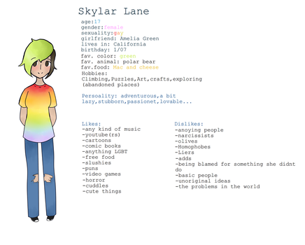Character introduction : Skylar by galaxina500