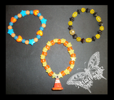 Yellow and Orange themed kandi by Kandifiedkitten