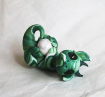 My Ball!  Playful Baby Dragon by BittyBiteyOnes