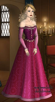 16th century Aurora - Pink dress by JoReia16