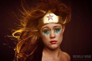 Wonder Woman can cry too by michellerenaephotos