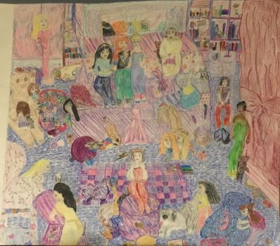 Disney Princesses Mouse at the sleepover/Chaos by sarymarie