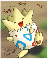 Day 175 - Happy Togepi by LinkSketchit