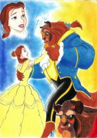 the beauty and the beast by Anju92