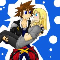 Commish: Me n Sora by bluecrysto