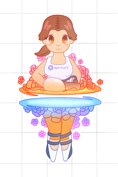 Chell by TheOceanOwl