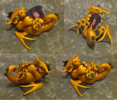 Gold Bass-Tail Dragon by Alexandrite-Dragons