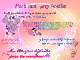 Pack Text Png Amelie by AmaiiaEditions