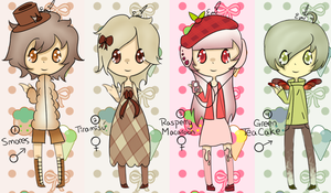 Dessert Adoptables [CLOSED] by RideAlongWithMe
