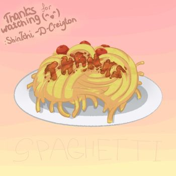 Spaghetti. A picture with gratitude for watching. by ShinIchi-D-Creighton