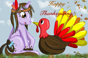 Thanksgiving the MLP Way by EmpressBlackWings