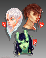 [closed] Portrait Adopts by Valkymie