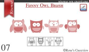 Funny Owl Brush by dreamswoman