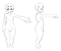 Male and Female Character Bases [Free and P2U] by StealthNachos