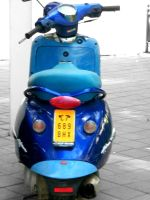 blue scooter by PhotographicJaydiee