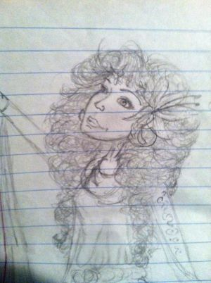 Aphrodite on Notebook Paper