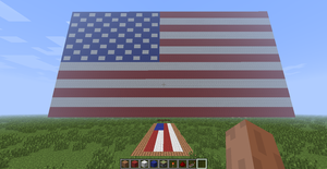 The Stars And Stripes (in Minecraft) by Thunderchin