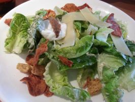 Ben's Caesar Salad with Poached Egg by nosugarjustanger