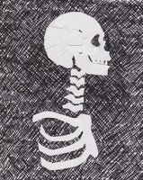 Skeleton cut out by vangoghgoghgirl
