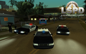 Police game wallpaper by mGreenie