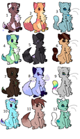 Adoptables Batch 7 by NaNO3Spicer