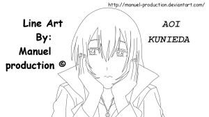 aoi kunieda line art by MP by Manuel-production