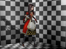AliceQueenRetro wip 1 by tombraider4ever