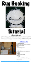 Rug Hooking Tutorial (Part One) by Yoroko666