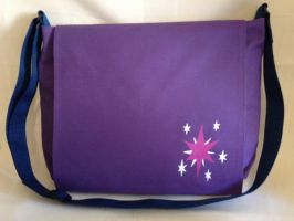 Twilight Sparkle Messenger Bag by Tirrivee