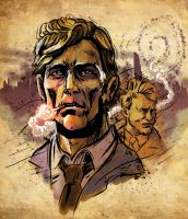 True Detective - Rust and Marty by BlotchComics