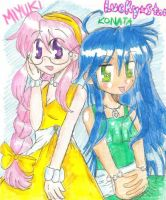 Lucky star: Queens of the prom by freaky-anime-doodler
