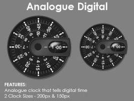Analogue Digital - Rainmeter by giraffe