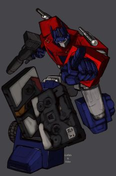 Griffith's Optimus Prime by kerfufflecolor