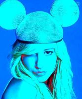 Ashley Tisdale Blue Mickey by fersellylover11