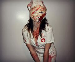 Silent Hill Nurse Cosplay by EricaMeow