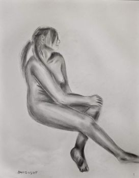 Figure Drawing (Second Model)-1 Hour by MattRasley