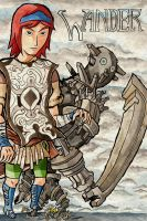 Shadow of the Colossus: Wander - tWW style by Skull-the-Kid