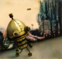 A Little Robot ~ Machinarium by Vissyscrafts