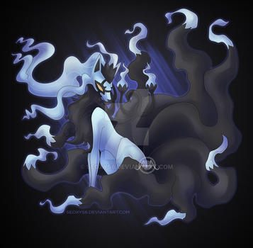 Alolan Ninetales X Chandelure by Seoxys6