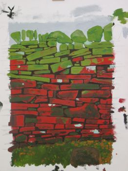 red dry stone wall by ToneStone