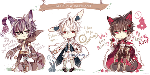[AUCTION*CLOSED]Lineheart set:Alice in wonderland by Relxion-kun