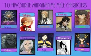 10 Favorite Anime and Manga Boys Meme by Camilia-Chan