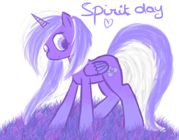 Destiny in purple for spirit day by Lumicorn