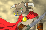 Red Cape Minotaur by Salvestro