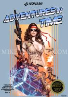 Adventures-In-Time. Faux NES Box Art. by MikePerryArt