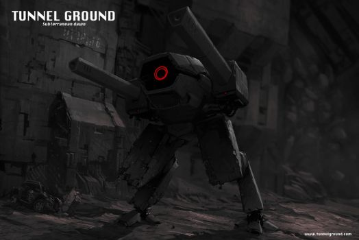 Tunnel Ground Subterranean Dawn game concept art 2 by Jutami
