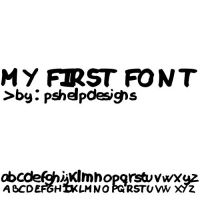 My first font by pshelpdesigns