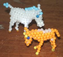 Beaded Chester and Molly by Anabiyeni