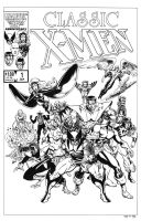 Classic X-Men #1 Cover Recreation by dalgoda7